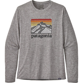 Patagonia Cap Cool Daily Graphic Long Sleeve Shirt Herre line logo ridge/feather grey